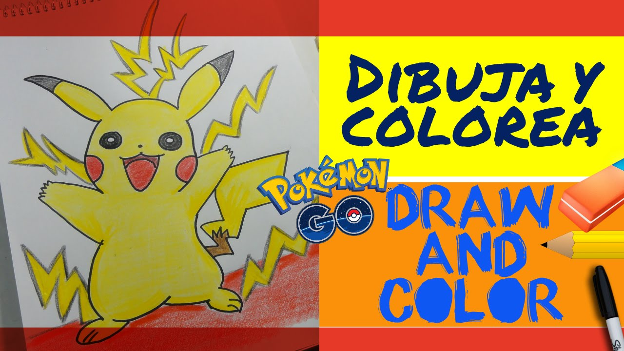 Pokemon Go Como Dibujar A Pikachu How To Draw And Color Pikachu