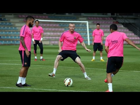 Training session: Xavi and Mathieu not travelling to Finland