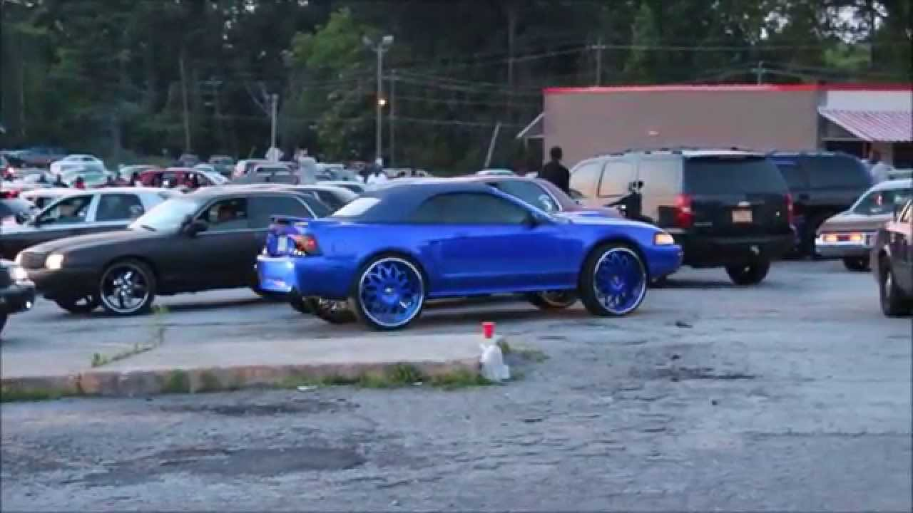 Candy Blue Mustang On Staggered 26 Quot Forgiato Grano Wheels