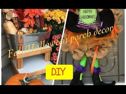 DIY Dollar store Fall/Halloween Porch Decor Ideas