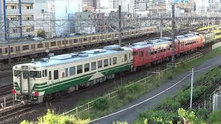 小湊鐡道 キハ40系 甲種輸送 蘇我駅到着