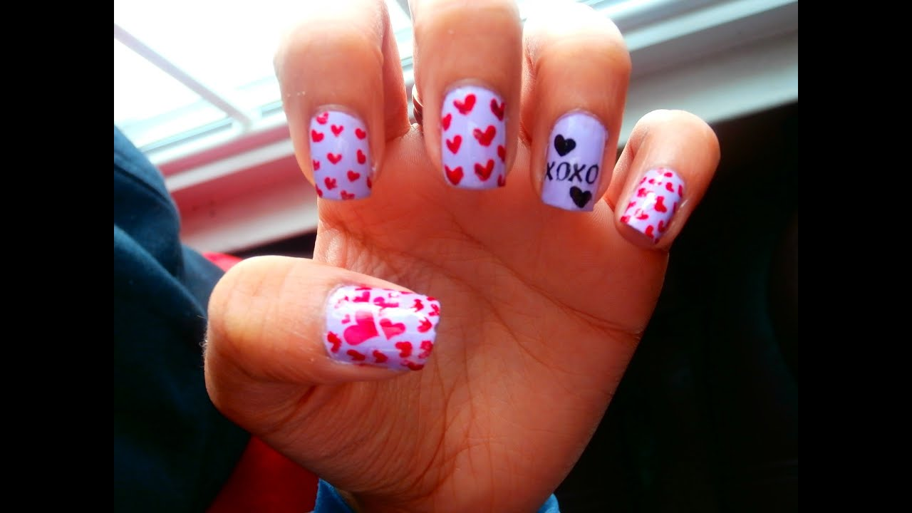 The Carrie Diaries Inspired Valentines Day Hearts Xoxo Nails