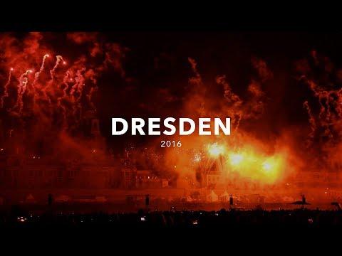 Dresden 2016 | Lichtshow mit Feuerwerk zum Tag der Einheit