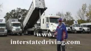 Interstate Truck Driving School End Dump Demo