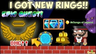 My New RING for EPIC QUESTS (SPONSOR) ITEM!! OMG!! | GrowTopia
