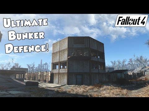 Fallout 4 - Best Settlement Defence ULTIMATE BUNKER!