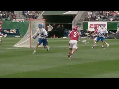 Cornell's Doug Tesoriero wins face-off, feeds Rob Pannell for a fast break goal