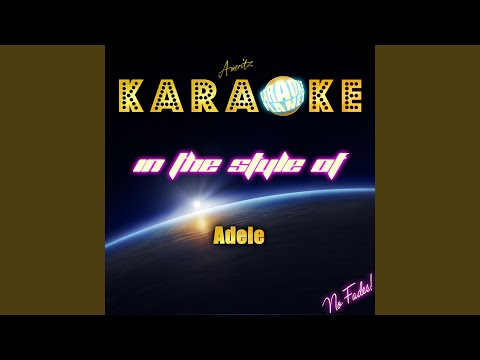 Chasing Pavements (In The Style Of Adele) (Karaoke Version)