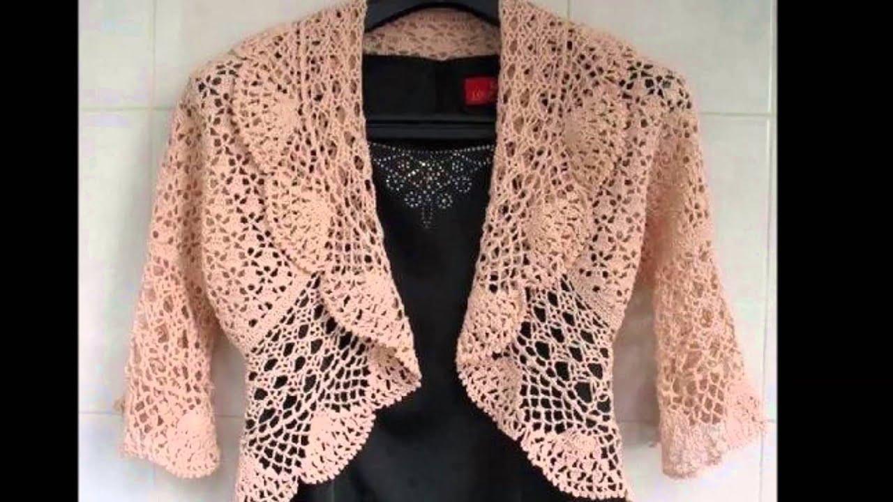 Modelos de boleros a crochet para dama y niñas - YouTube