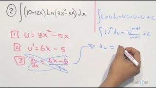 Funciones con logaritmo natural (integral por sustitución) - HD