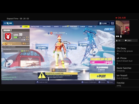 $10 Fortnite Giveaway #5 | Nog Ops Still in Item Shop ! Giveaway Day is LIVE ! JOIN to WIN !