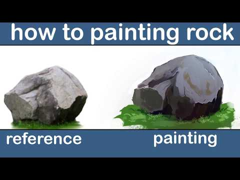 How to Paint Rocks & Stones in Photoshop | Digital Painting Tutorial