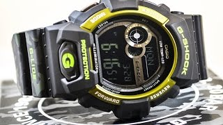 Casio GSHOCK GLIDE GLS8900CM-1 REVIEW | How To Set Time | LIGHT DISPLAY