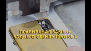 Правильная замена заднего стекла iPhone X
