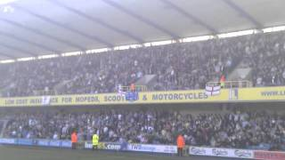 Millwall vs Westham wall of noise before the game.