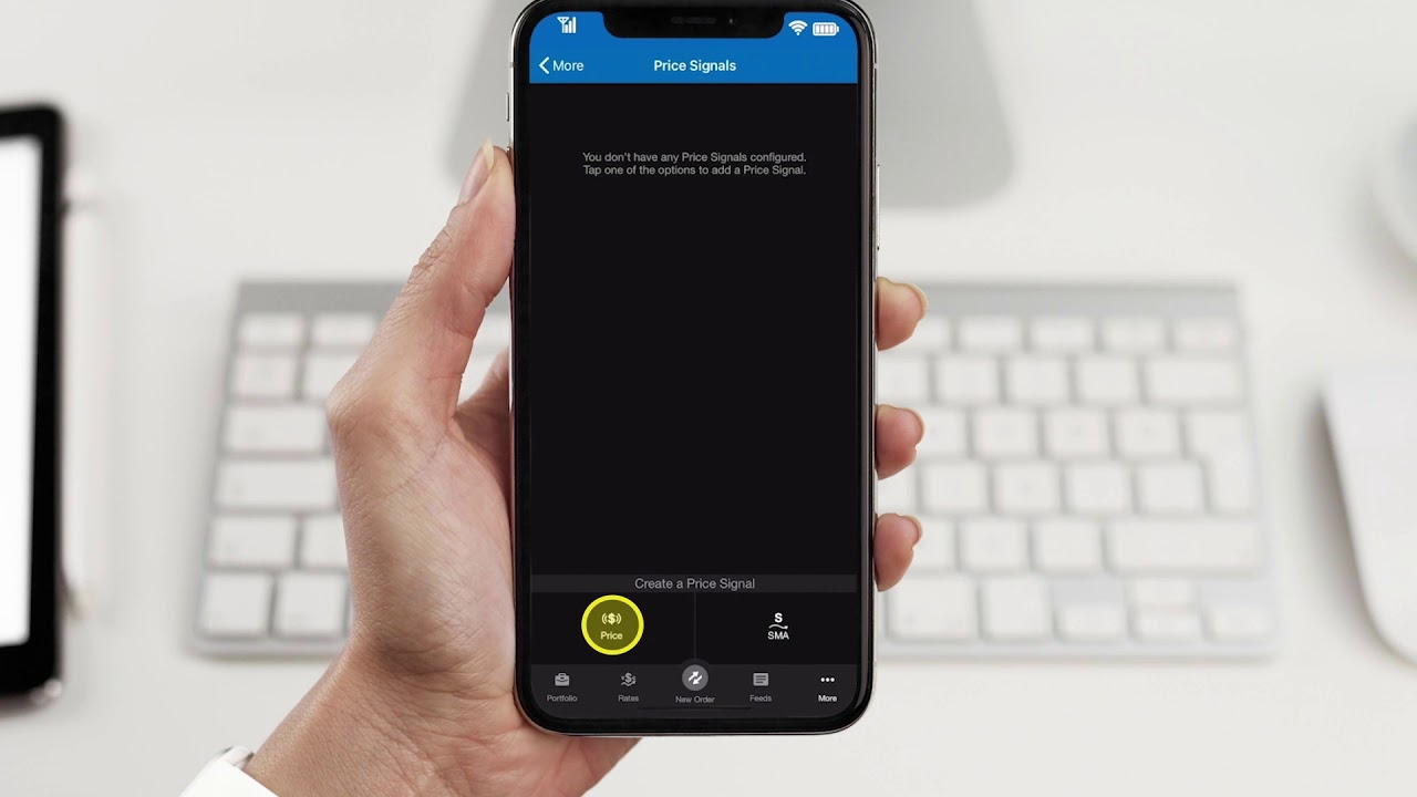 Oanda Fxtrade Mobile Price Alerts Youtube