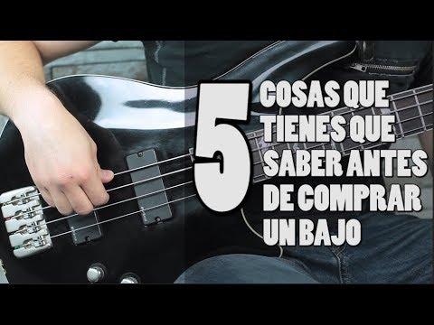 5 COSAS QUE TIENES QUE SABER ANTES DE COMPRAR TU PRIMER BAJO