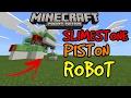Minecraft PE Easiest Slimestone Piston Robot | MCPE 1.1.0