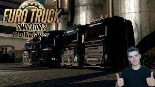 Euro Truck Simulator 2 (MP) Podwójne naczepy i ponad gabarytowe ładunki !! co tu się odpie*dala Xd