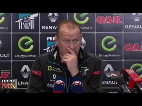 Ken Hinkley post-game v Melbourne - R21, 2016