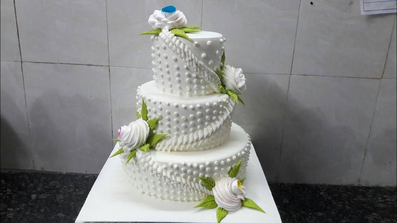 Step cake Engagement cake fancy decoration cake making by ...