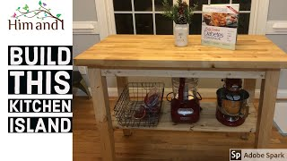 How to make simple DIY Kitchen Island
