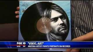 """Vinyl Art"" Arizona artist paints portraits on records"
