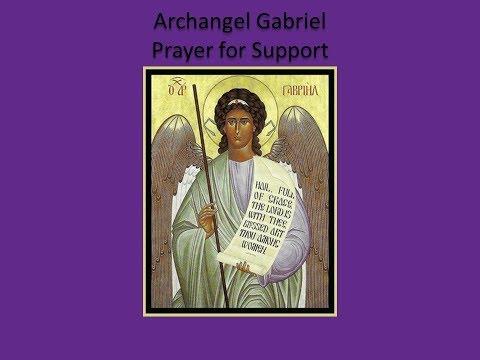 Archangel Gabriel Prayer for Support