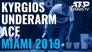Nick Kyrgios hits underarm ace v Lajovic! | Miami Open 2019
