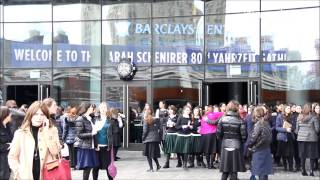 Thousands Of Bais Yaakov Girls At Barclays For Sara Schenirer Tribute