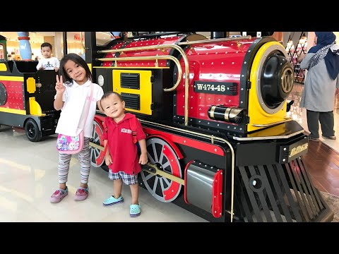 Naik Kereta Api tut tut tut | Kenzo sighseeing in BXchange Mall | Naik Kereta Keliling Mall