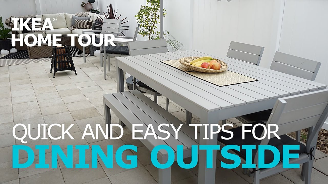 Outdoor Dining Essentials Ikea Home Tour Youtube