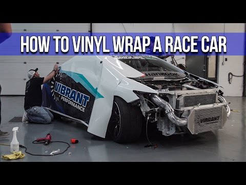 How To Vinyl Wrap A Race Car