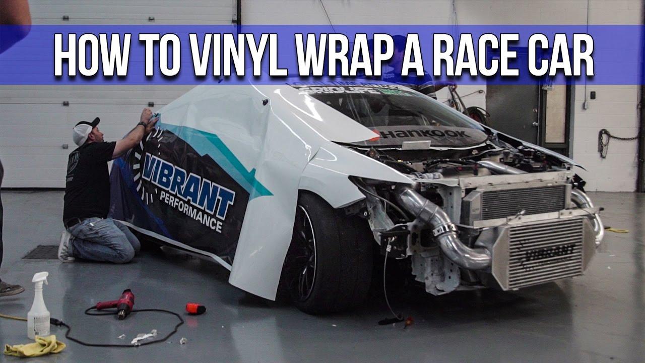 How To Vinyl Wrap A Race Car Youtube
