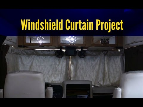 Rv Windshield Curtains 14 Days To Departure Youtube