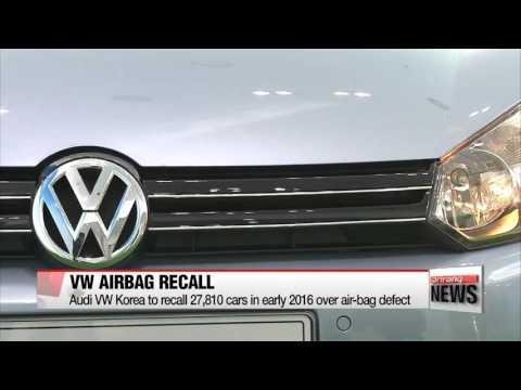 Audi Volkswagen Korea to recall almost 28,000 cars in early 2016 over air-bag de