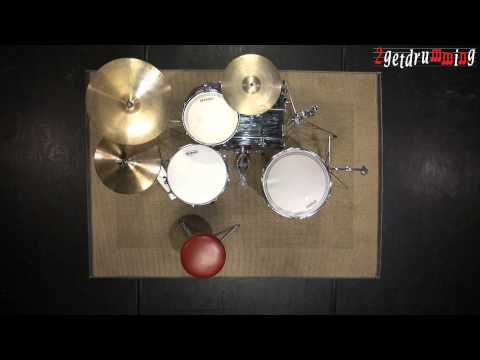 free drum lesson - How to setup a basic Jazz kit - 2getdrumming.com