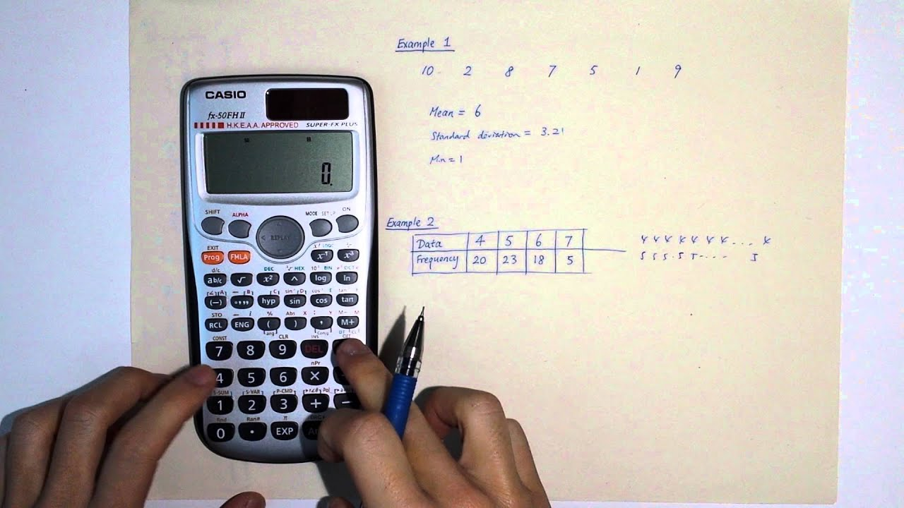 finding mean standard deviation using calculator youtube