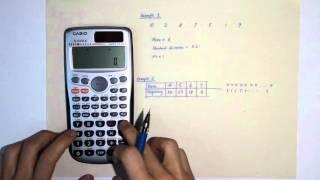 Finding Mean, Standard Deviątion using Calculator