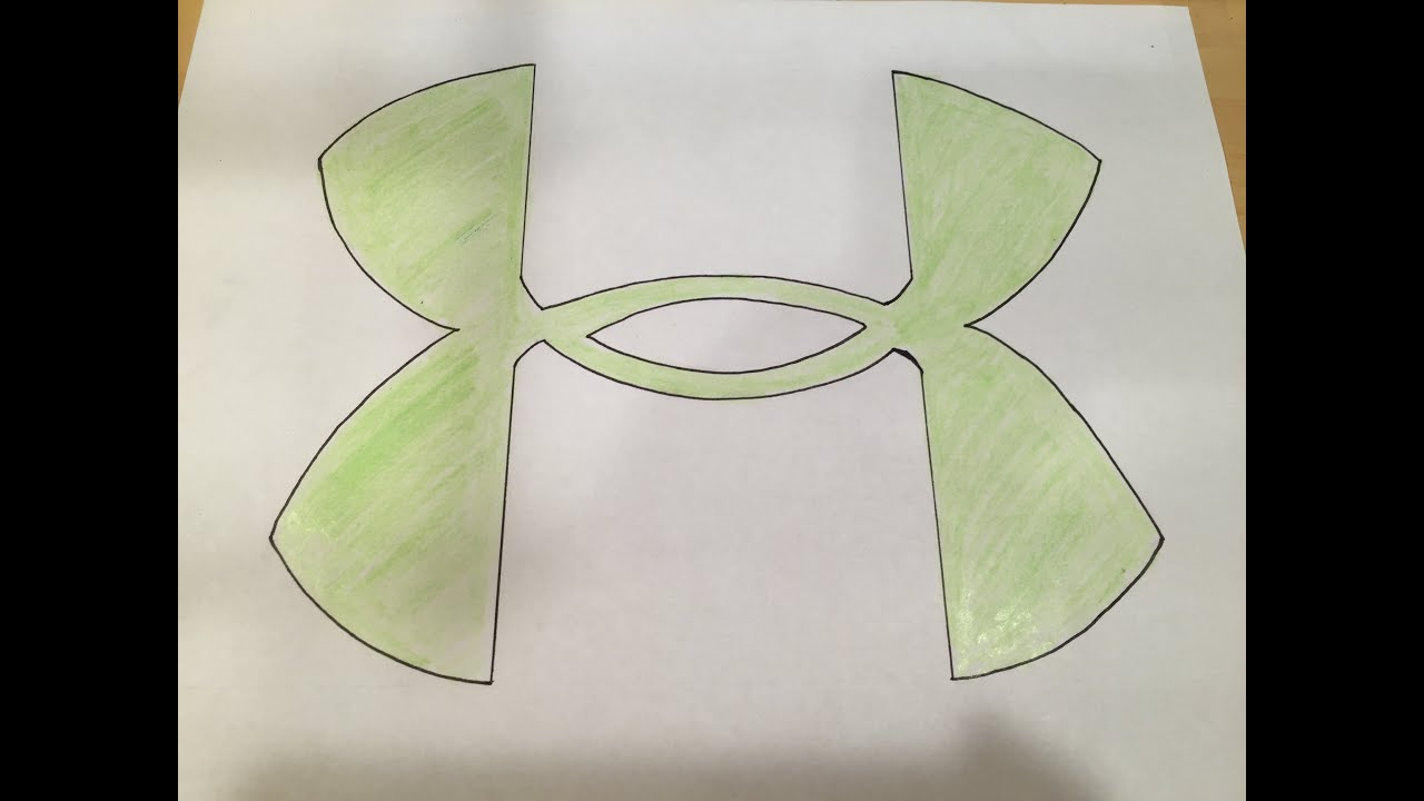 How To Draw An Under Armour Logo Logo Drawing Youtube