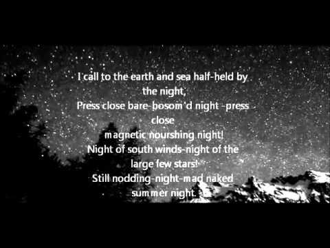 Walt Whitman- Song of Myself-Section 21