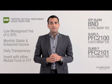 An Introduction to the Purpose Tactical Investment Grade Bond Fund