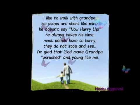 my grandpa essay Grandparents are the parents of a person's father or mother – paternal or  maternal  (eg,  my grandpa walked by), all forms are common (anywhere  from.