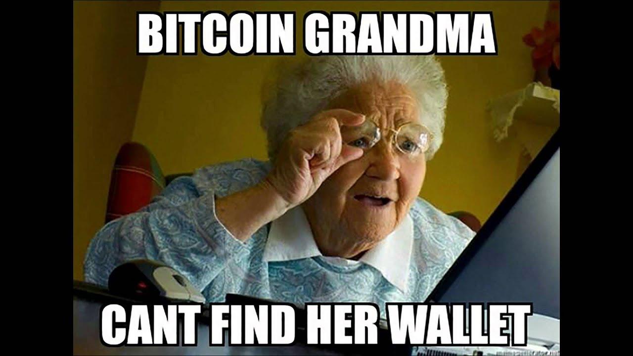 Resultado de imagen de grandma bitcoin