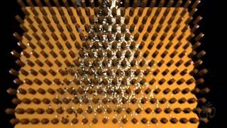 Galtonboard / Galtonbrett Simulation (or Bean machine or quincunx or Galton box)