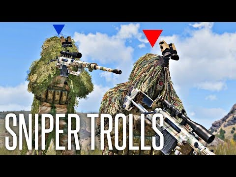 TROLLING UNAWARE SNIPERS - ArmA 3 King Of The Hill Sniper Gameplay