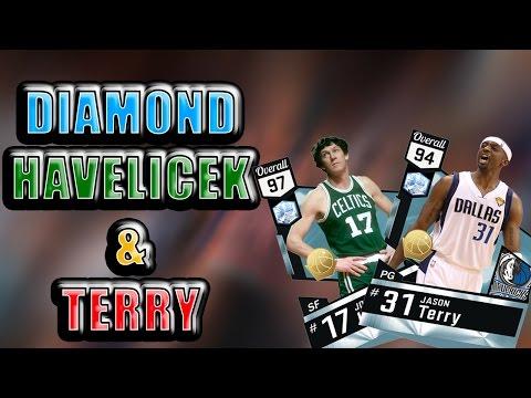 NBA 2K17 MYTEAM DIAMOND JASON TERRY & JOHN HAVLICEK GAMEPLAY