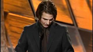 Rock of Ages Star Tom Cruise Wins Best Supporting Actor Motion Picture - Golden Globes 2000