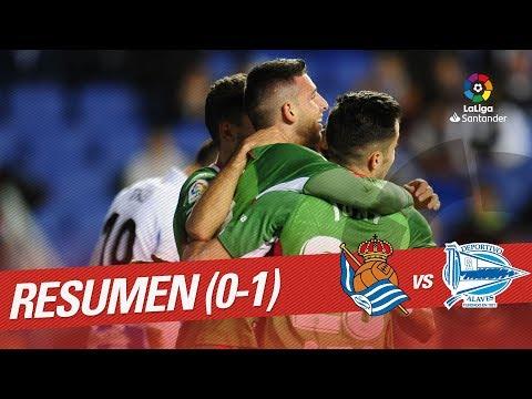 Resumen de Real Sociedad vs Deportivo Alavés (0-1)