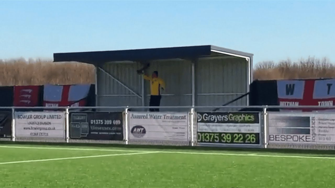 Non-league fan sings heart out for 90-minutes alone in the stand